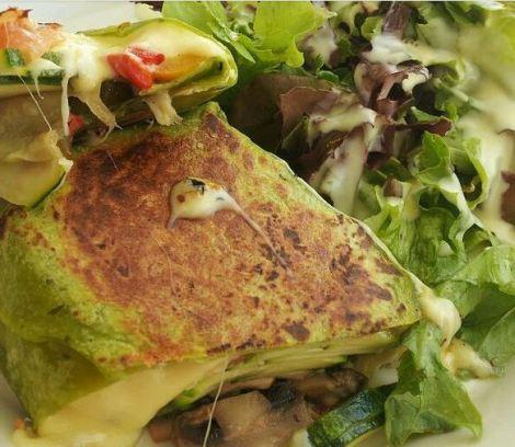 Wrap de verduras y queso De Buena Mesa