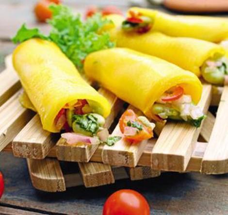 Cebiche de habas envueltas en láminas de mangos De Buena Mesa